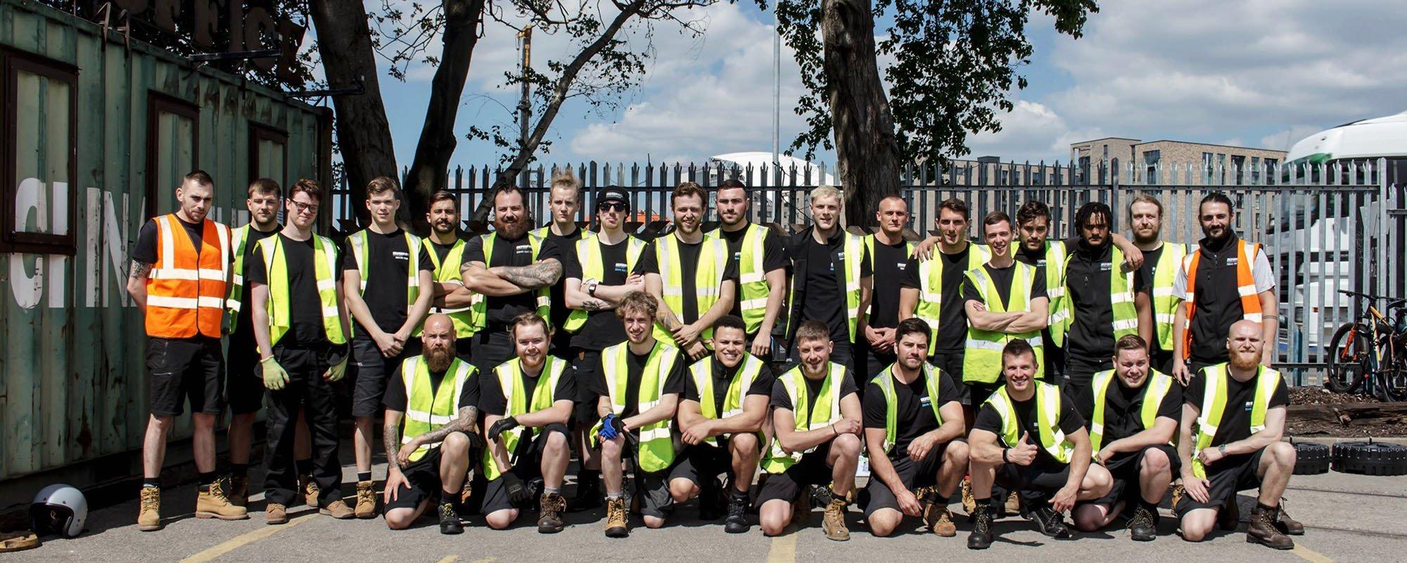 Full Silverback crew team at Victoria Warehouse