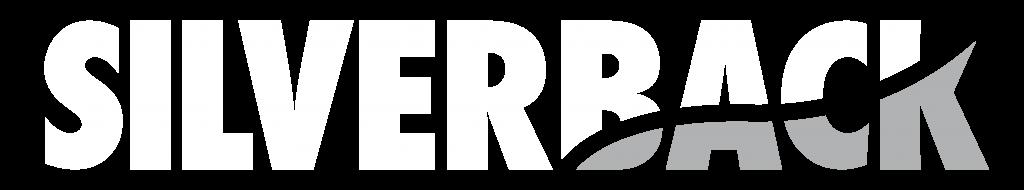 Silverback logo white and grey