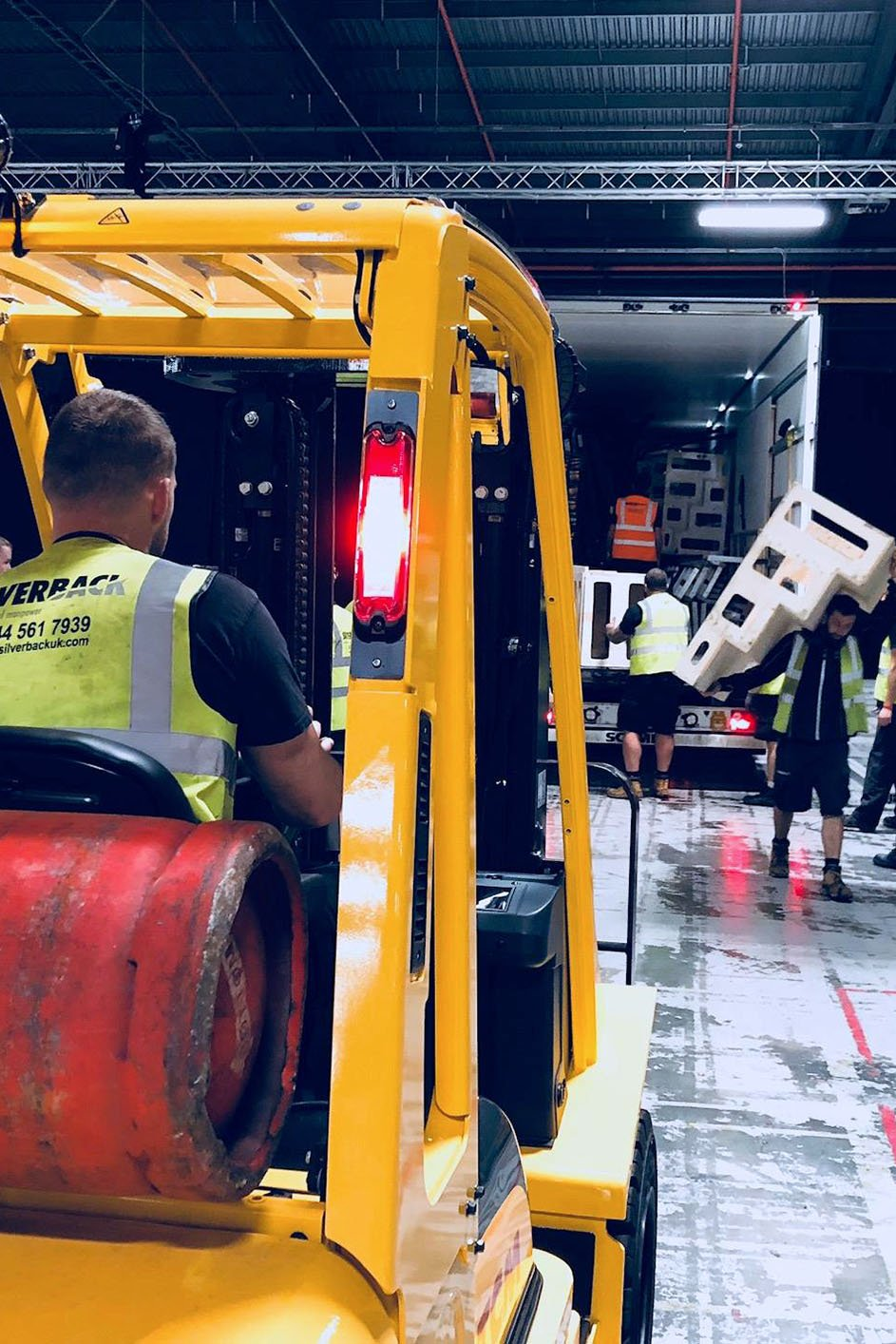 Silverback team with forklift
