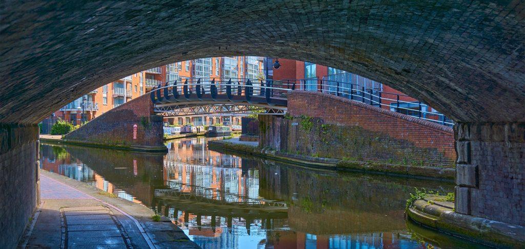 Bridge and canal in Birmingham
