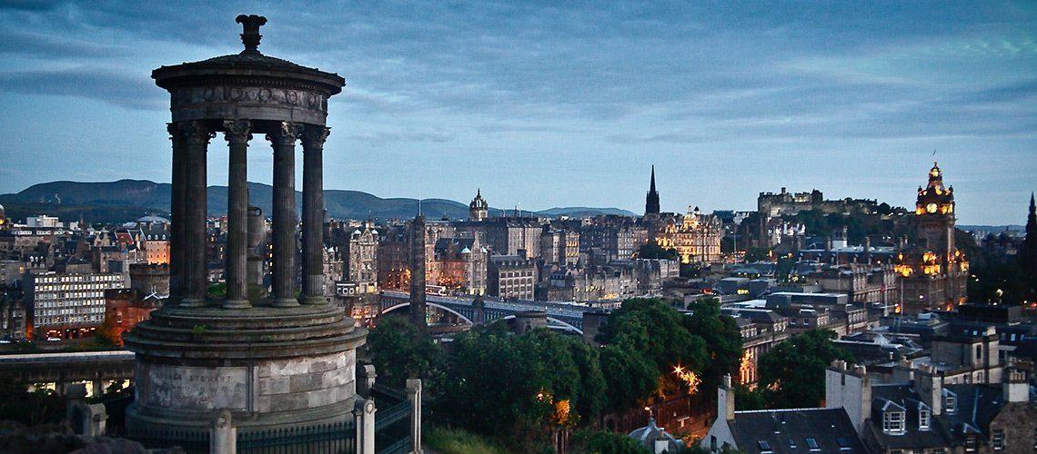 Edinburgh night time skyline